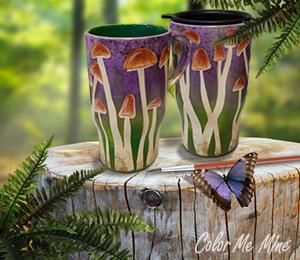 Ridgewood Mushroom Mugs