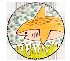 Ridgewood Happy Shark Plate