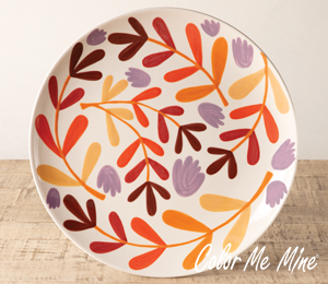 Ridgewood Fall Floral Charger