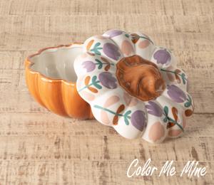 Ridgewood Floral Pumpkin Box