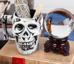 Ridgewood Antiqued Skull Mug